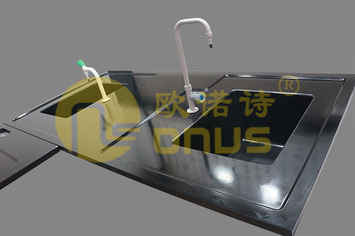 Black rectangular drop in sinks epoxy resin chemical resistance