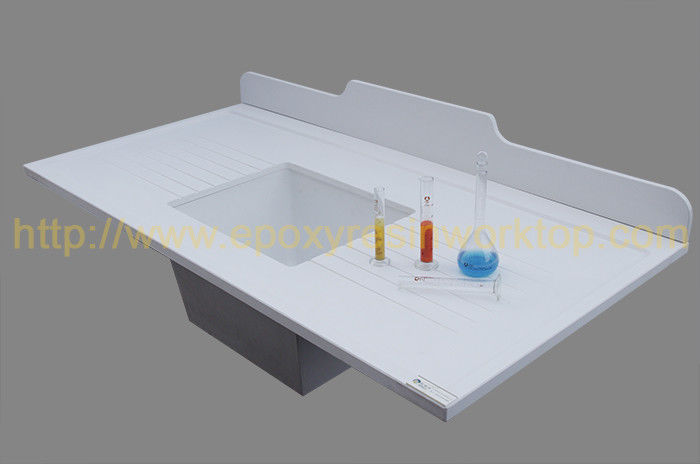 Resist moisture epoxy resin corner countertop matte surface for pharmaceutical company