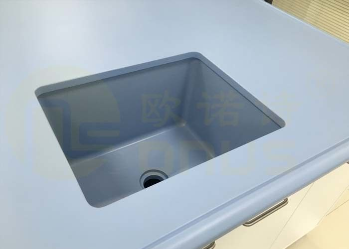 500 * 400 * 300mm Epoxy Undermount Sink Glare Finish For Pharmaceutical Company