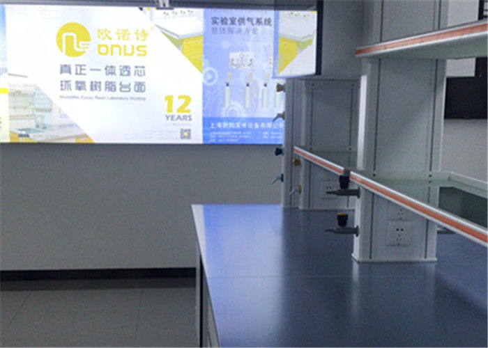 Laboratory Furniture Epoxy Resin Lab Countertops 2480 * 1800mm With Blue Color