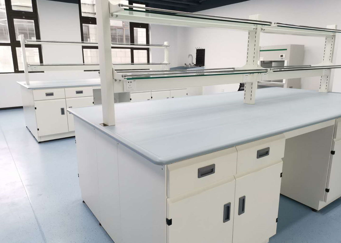 Monolithic Epoxy Resin Laboratory Table Tops 25mm Thickness Grey Color